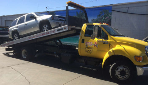 Cash For Cars San Jose premium Flatbed Tow Truck